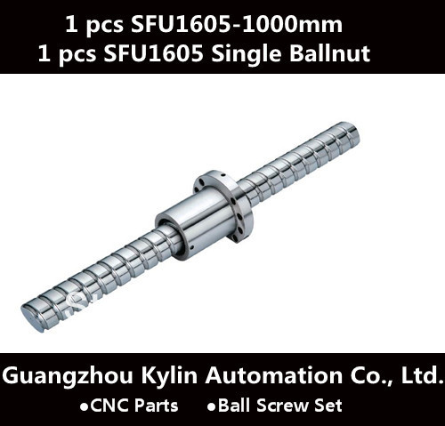 On Sale! SFU1605 / RM1605 set = 1pc sfu1605 Ball Screw L1000mm+SFU1605 BallScrew Ball Nut ends machining for CNC Engraving noulei sfu 1605 ball screw price cnc ballscrew 1605 900mm ball screw nut sfu1605 l900mm