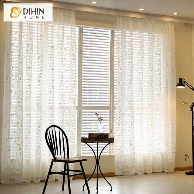 DIHIN 1 STÜCK heißer verkauf 2 farben tüll gardinen für wohnzimmer ...