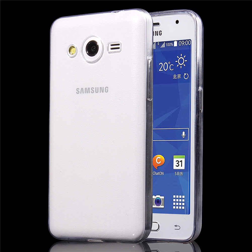 Для samsung Galaxy Core 2 G355H чехол тонкий Кристальный Прозрачный Силикон ТПУ задняя