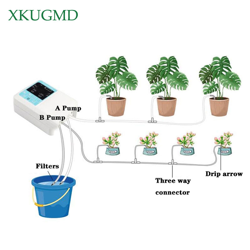 Home Intelligent Garden Automatic Watering Device Solar Charging Potted Plant Irrigation Water Pump Timing System Accessories