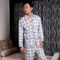 Frete Grátis Masculino primavera e no outono salão sleepwear-manga longa definir masculino boutique sono set 10 Sono & Lounge