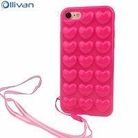 10pcs Lot Wholesale LOVE Heart Case For Iphone 6s Case Silicone Full Protection Back Cover For