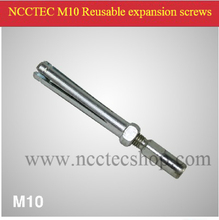 M10 Reusable expansion Screws FREE shipping specially for fixing the NCCTEC desktop drill in soft floor or wall
