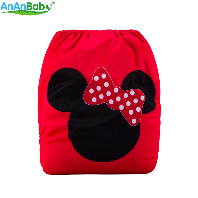 {AnAnBaby}New Design Baby Diapers Waterproof & Reusable Nappies Digital Position Prints Cloth Diapers With Microfiber Inserts
