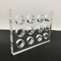 Desktop Clear Acrylic Scarf Holder Jewelry Show Block