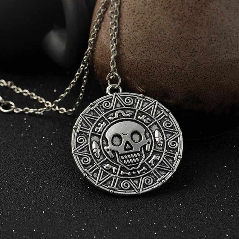 カリブ海の GHRQX ホット海賊ジャック · スパロウ Aztec グッズコインメダリオンヴィンテージゴールドブロンズシルバーペンダント卸売