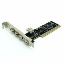 Бесплатная доставка Pci card high-speed 480mbp/с USB 2.0 PCI express card VIA6212 чипсет 5 порта адаптер добавить на Карту
