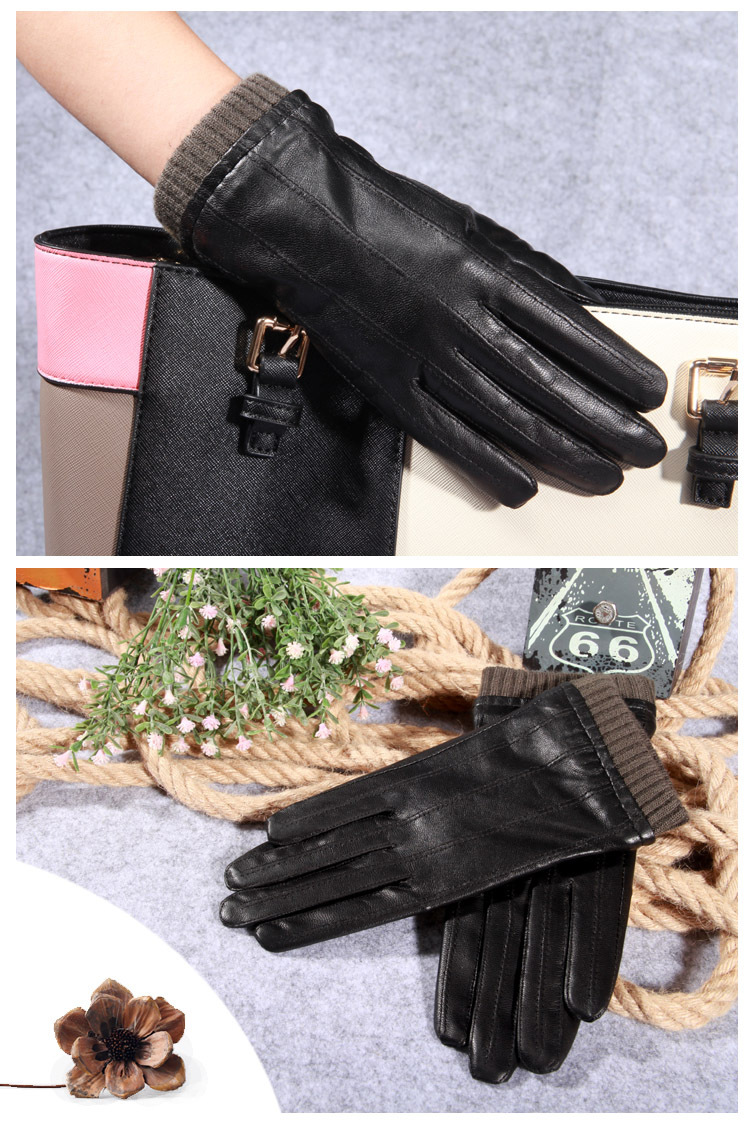 8590ba57c03d0 Q45 New Fashion Leather Gloves Men's Fine Goatskin with Suede Winter Warmth  Bike Leather Glove Lovers Winter Gloves Men 1 1-2 1-4 4 2 3 5