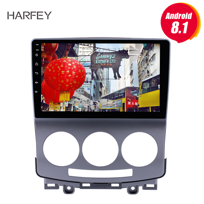 Harfey Android 8.1 9 inch <font><b>2Din</b></font> GPS Head Unit Car Radio For 2005-2010 Old <font><b>Mazda</b></font> <font><b>5</b></font> Multimedia Player With Wifi OBD2 DAB+ Camera image