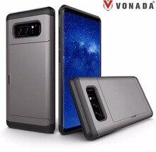 VONADA  Slide Wallet Case Card Hidden Slot Pocket ID Cash For Samsung Galaxy Note 8