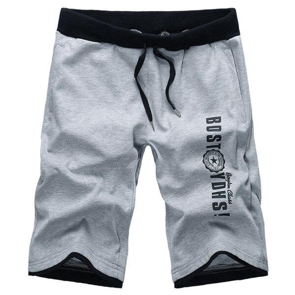 Grey or black men sport short pants young guys loose men shorts ...