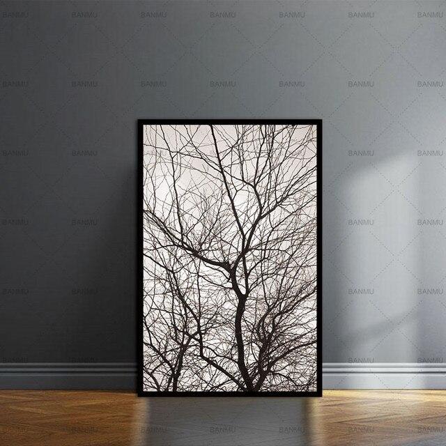 US $3.9 |Wand Bilder Nordic Bäume Winter Abstrakten für Wohnzimmer Kunst  Dekoration Bilder Skandinavischen Leinwand Malerei Druckt Keine Rahmen in  ...