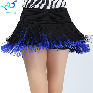 Image 5 - Ladies Latin Dance Costume Skirt Girls Salsa / Rumba / Samba / Belly Dancing Dress Fringe Performance Outfits With Shorts Inside