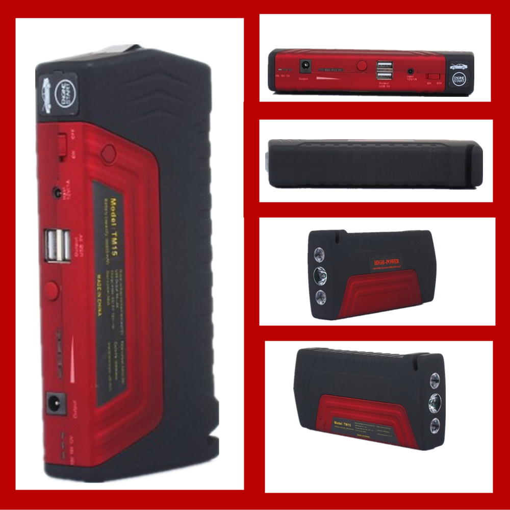 factory price sale power bank 12V car booster batteries car jump starter with pump 2 USB for petrol cars 2016 factory price pump power cable for flora lj320p printer