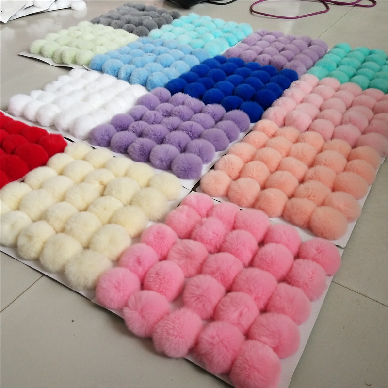 6cm DIY Plush Balls Multicolor Fur Ball Pompom Children's Hair Accessories Crafts Garland Decorative Keyrings Flower Home Decor(China)