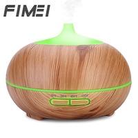 FIMEI New Fashion 300ml Ultrasonic Air Humidifier Wood Grain Aroma Essential Oil Diffuser Night Light Umidificador