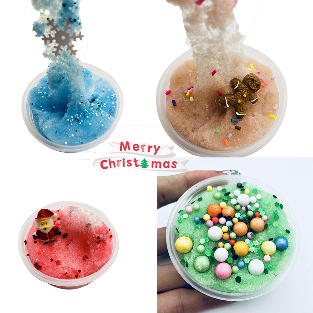 Toys & Hobbies Apprehensive Christmas Snowflake Santa Claus Cloud Slime Putty Scented Kids Clay Toy 60ml Ture 100% Guarantee