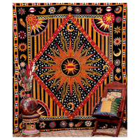 Indian Mandala Tapestry, 145x200cm, tapestry fabric, wall mandala tapestry, for home hotel Home Decor Free Shipping