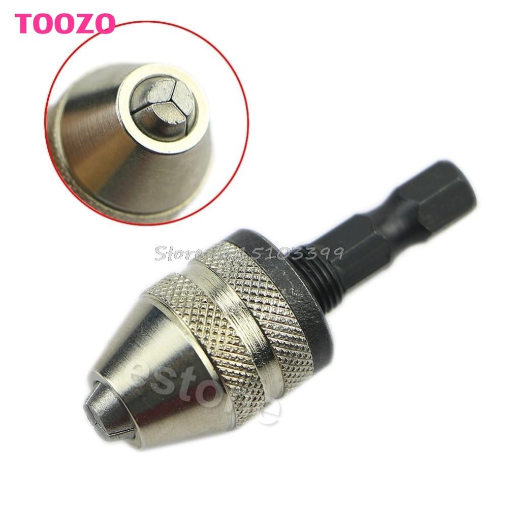 """1/4 """"Broca sin llave Portabrocas Convertidor de adaptador de vástago hexagonal 0.3 mm-3 mm Cambio rápido G08 Whosale & DropShip"""