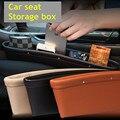 Nuevo 1 unids alta calidad asiento de coche de cuero Chink caja de almacenamiento 2016 Universal de lujo 3 Color teclas del teléfono móvil del cigarrillo bolsas de transporte