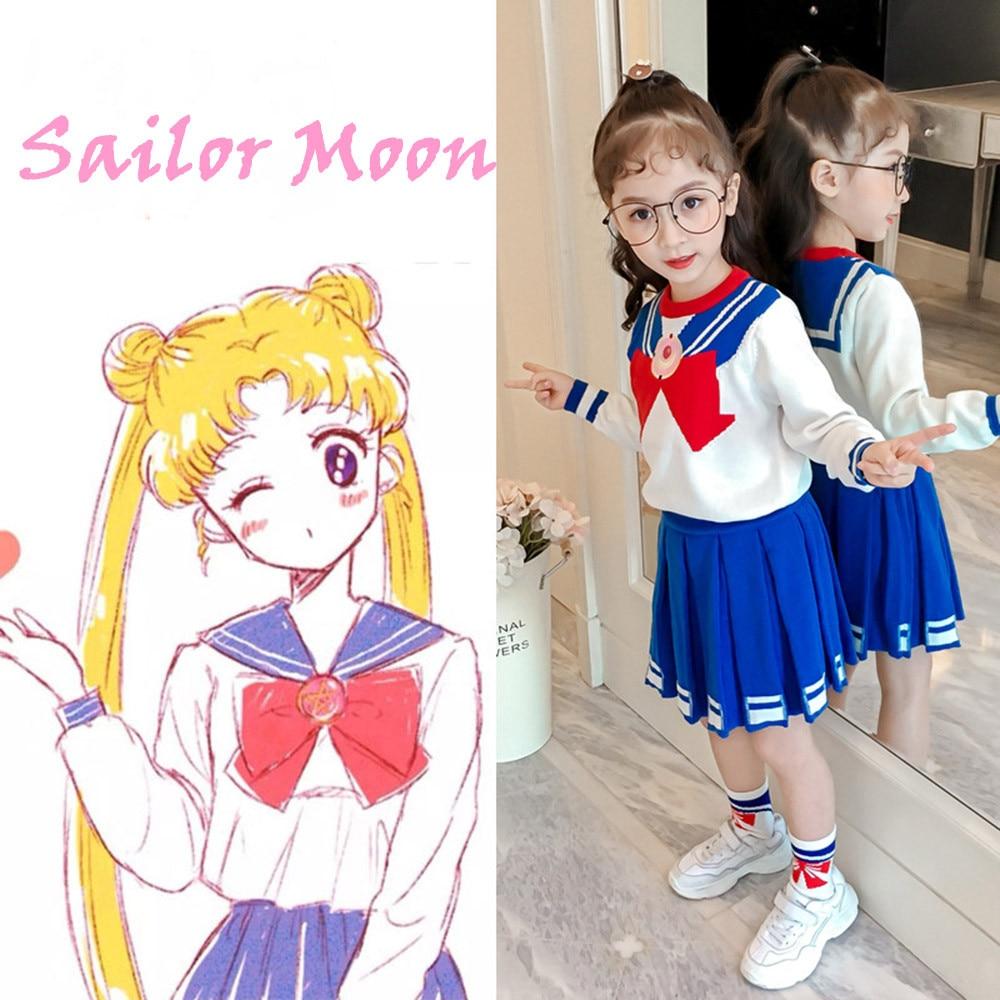 Sailor Moon Christmas Sweater.Anime Sailor Moon Costume Girl S Tsukino Usagi Dress Sweater