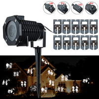 1 Set 10 Pattern LED Laser Light Christmas Xmas Party Landscape Lamp Projector LED Outdoor Light