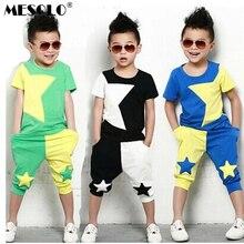 MESOLO 2019 NEW children clothing set stars boys set baby sets short t shirt+pants 2 pcs set clothes kids suit 2-7Years