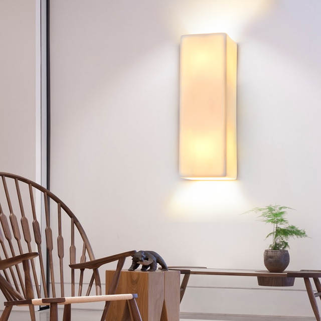Us 9 10 Off Modern White Wall Beacon Lighting S Nord Brings Scandinavian Porcelain Porch Sconce In Lamps From Lights On