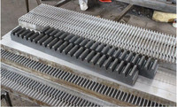 150pcs 1M 1.0 Mod 10*10*1500mm mold Gear rack spur right teeth cnc rack (straight teeth) Toothed rack