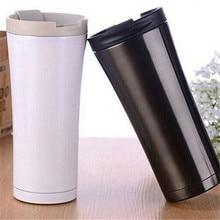 3 Farben Doppelwand Aus Edelstahl Kaffee Thermoskanne Tassen Tassen Thermische Flasche 500 ml Thermocup Becher Isolierflasche VS049 T63