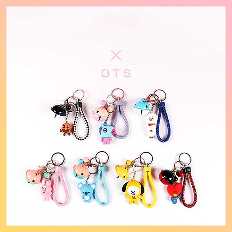 Cute Cartoon Doll Keychain Children's Toy Animal Bell Keyring Trinket Car Wallet Keychain Gift Girl jewelry 2019 New hot sale
