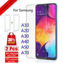 цена на 9H Tempered Glass For Samsung Galaxy A70 A50 A40 Screen Protector For Galaxy A30 A20 A10 Glass Protective Film 50A 70 A 30 20
