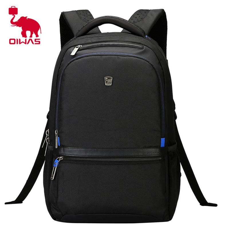 Фотография 2018 NEW Oiwas 24.8L Business Laptop S Shape Straps Backpack School Bags Waterproof Travel Carry-on 14 Inch Computer Daypack Bag