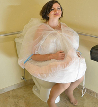Gather Slip Skirt For Bride Buddy Petticoat Wedding Underskirt Save You From Toilet Water Women Tulle Dress Protect