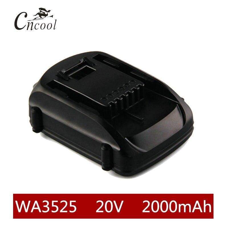 20 V 2000 mAh Li-ion WA3525 Batterie Rechargeable WORX WA3742 WG155 WG160 WG255 WG545 WA3520 WA3525 WA3760 WA3551 WA3553