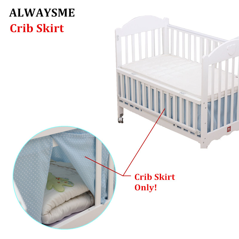 ALWAYSME Baby Breathable Soft Standard Crib Toddler Skirts Covers 65x120CM Cotton Knit Home Textile Bed Skirt Sheets Covers
