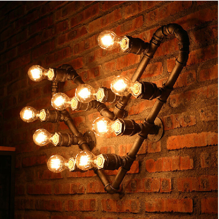 American country industrial waterpipe wall lamps heart water pipe american country industrial waterpipe wall lamps heart water pipe wall lights fixture cafes pub shop restaurant dining room lamp in wall lamps from lights aloadofball Image collections