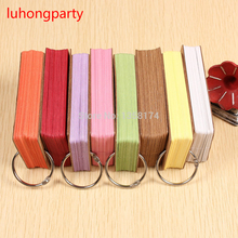 9*5.5cm Kraft Paper Gift Cards/Tags for Notebook Card useful colored Word Scrapbooking Crafts 150 pcs/lot