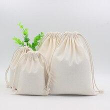 2 шт хлопковый мешочек сумка для хранения напечатанный логотип с кулиской сумки упаковки еды сумки рождественские подарки мешок