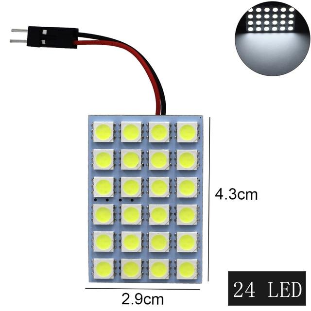 1 ensemble voiture panneau lecture carte lampe 5050 6 9 12 15 24 36 48 LED SMD dôme intérieur ampoule toit lumières BA9S T10 C5W adaptateur Festoon Base 5