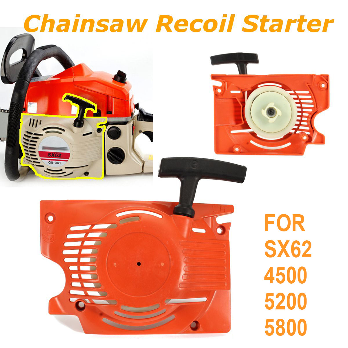 Recoil Starter For Chinese Chainsaw 4500 5200 45cc Tarus TOPSUN Timbertech