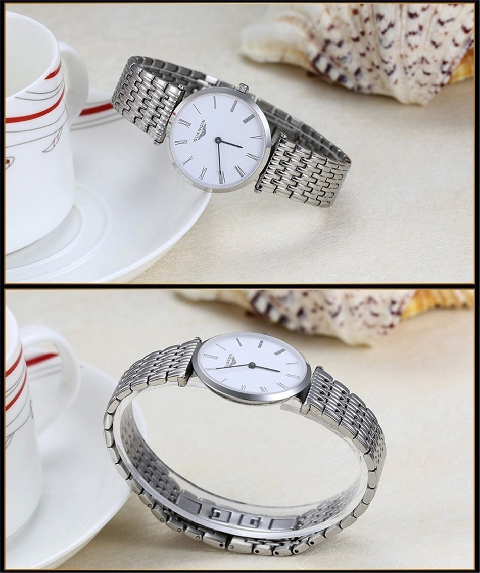 GUANQIN Women Watches 2017 Luxury Top Brand Watch Women Casual Fashion Gold Silver Steel Quartz Girl Watches relogio feminino (15)