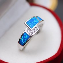 925 sterling silver ring For women with opel silver ring New luxury dazzling jewelry wholesale women