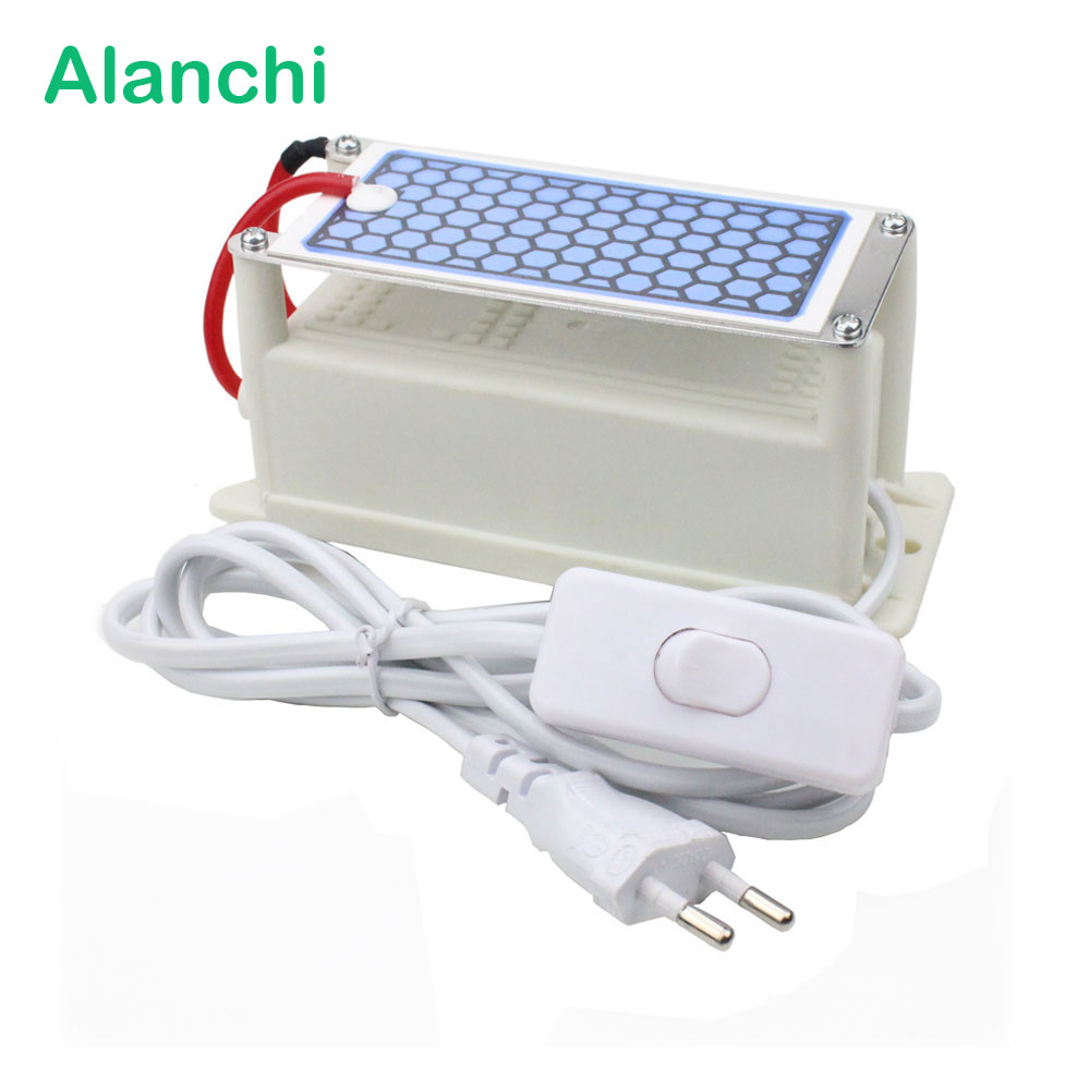 Alanchi Portable Air Purifier Ceramic Ozone Generator 220V/5g Ceramic Plate Ozonizer Air Disinfection With EU PlugAlanchi Portable Air Purifier Ceramic Ozone Generator 220V/5g Ceramic Plate Ozonizer Air Disinfection With EU Plug