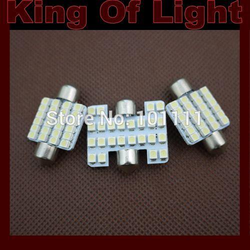100x Car led festoon c5w 24 leds smd 24smd 3528 Festoon 36MM light lamp bulbs Free shipping