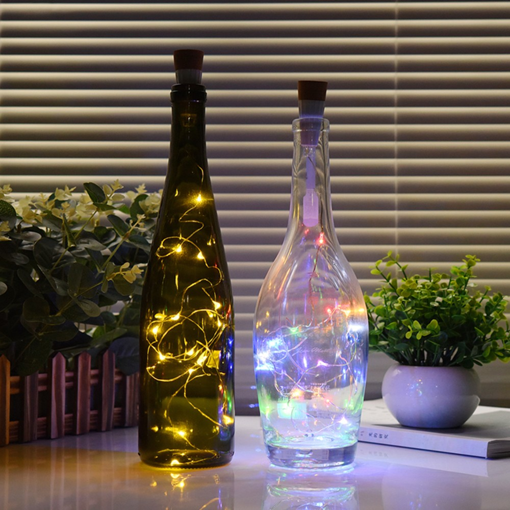 Home & Garden Hard-Working 1.5m Led Light String Rechargeable Wine Bottle Led Cork Lights Waterproof Light For Festival/wedding/parties Home Decorations Promoting Health And Curing Diseases