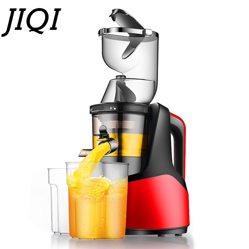 JIQI 220V 150W Electric Multifunction Juicer Fruit Ice cream maker household Food processor Juice Extractor Stainless