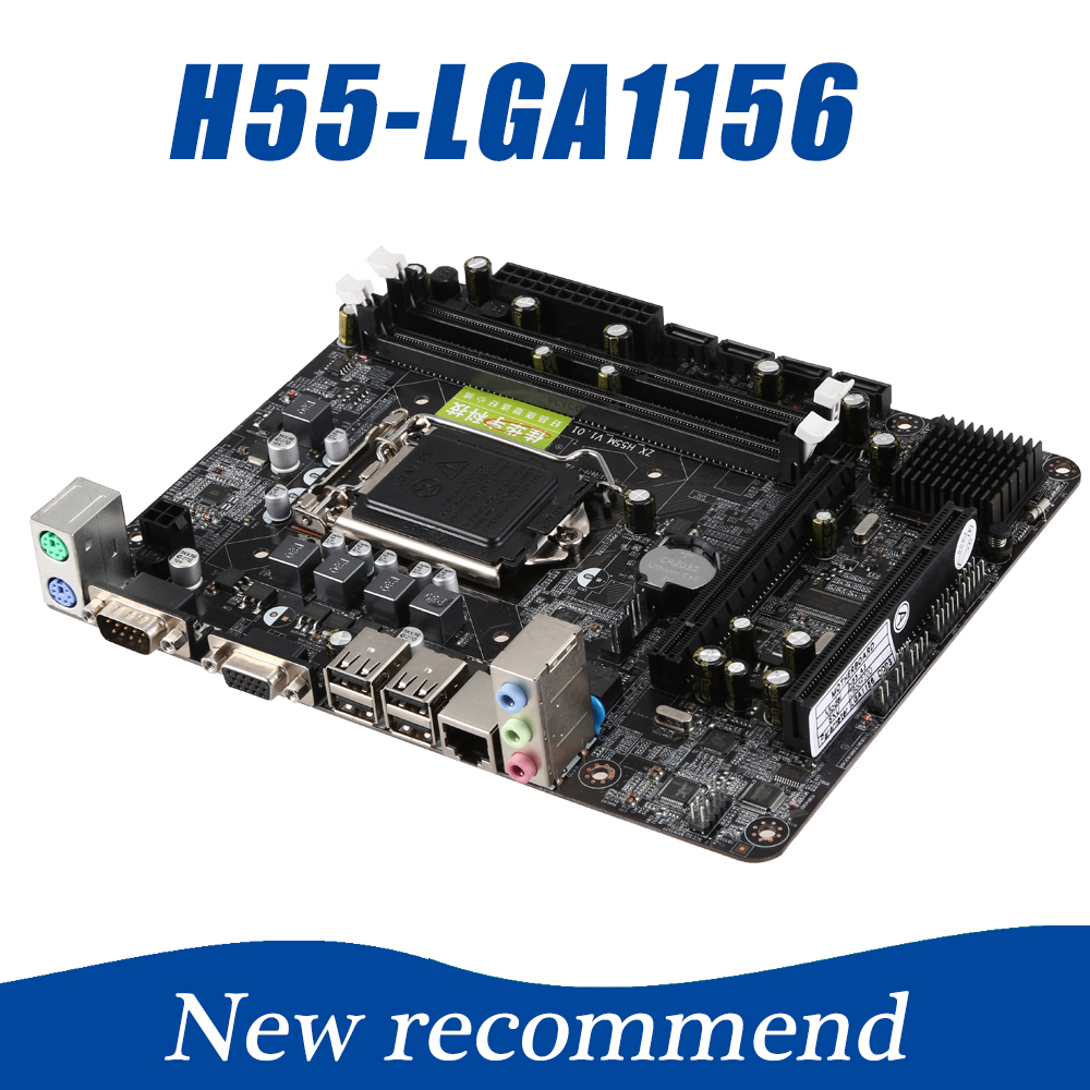 216*168mm H55 Motherboard LGA 1156 Max 8GB Computer Motherboard 2xDDR3 RAM Desktop PC Mainboard Support Core i3/i5/i7+Xeon getworth s6 office desktop computer free keyboard and mouse intel i5 8500 180g ssd 8g ram 230w psu b360 motherboard win10