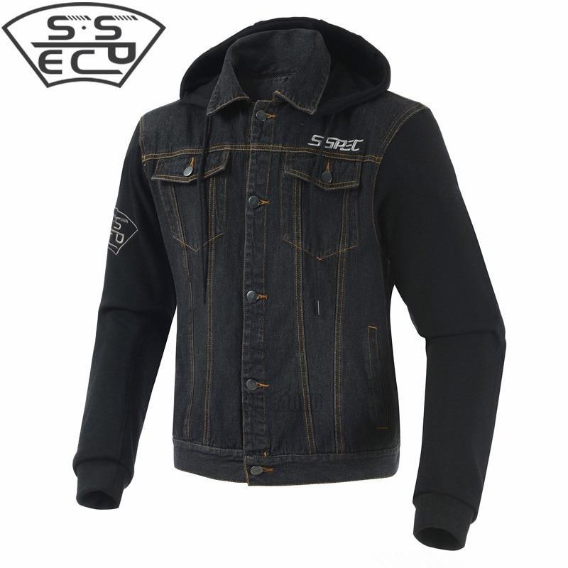 SSPEC été respirant hommes cross-country moto course veste denim veste vêtements de protection - 3