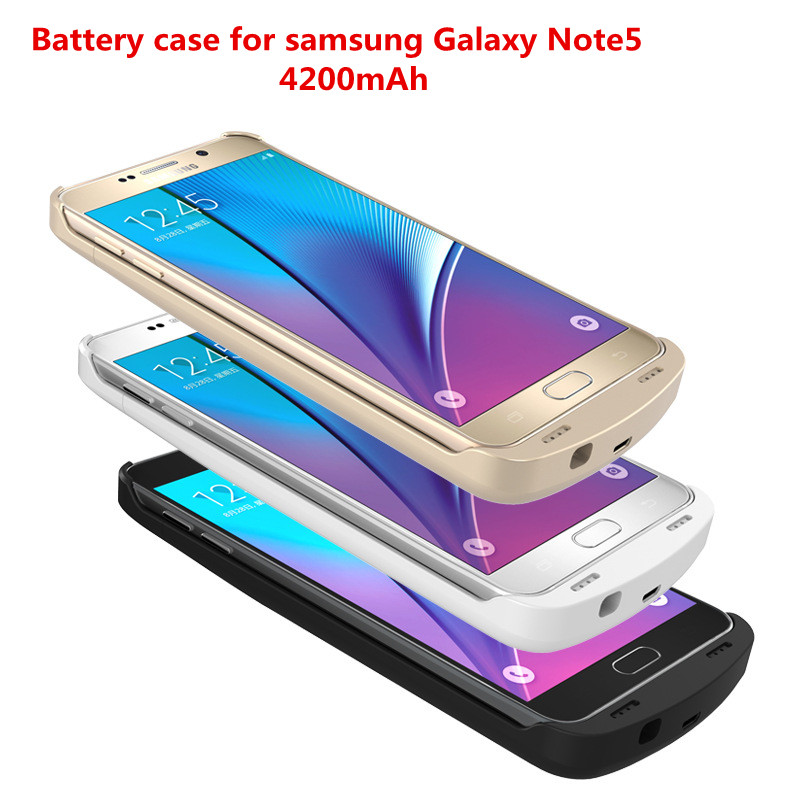 Цена за Note5 n9200 телефон продлить batteria 4200 мАч зарядки аккумулятора power bank чехол для samsung galaxy note 5 note5 n9200 батареи зарядное устройство